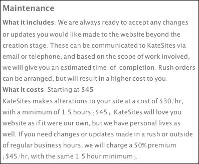 Maintenance
